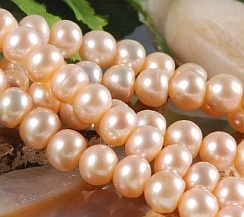 Perlenkette mit Suesswasserperlen