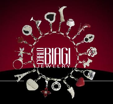 Carlo Biagi Charms Armband 925er Sterling Silber