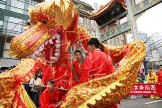 Chinesisches Neujahrsfest- Drachentanz