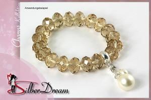 Glasbead Armband von SilberDream Charms; Artikel FC0202