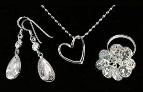 Silberschmuck Set - Ohrring, Kette, Ring