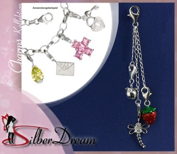 Charms Carrier mit Silber Kette FC0076