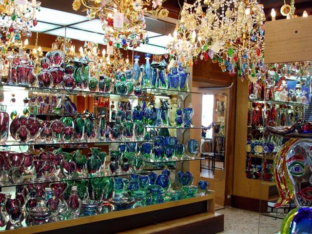 Murano Glasverkauf Austellungsraum