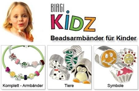 Beadsarmbänder für Kinder - Carlo Biagi Kidz Silberbeads