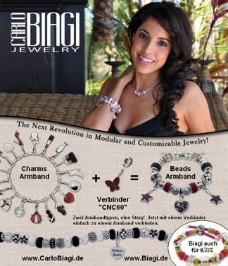 Beads und Charms Carlo Biagi Armbaendertypen verbinden