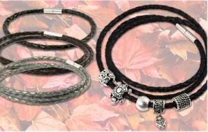 Lederarmbänder für Beads mit Bajonettverschluss